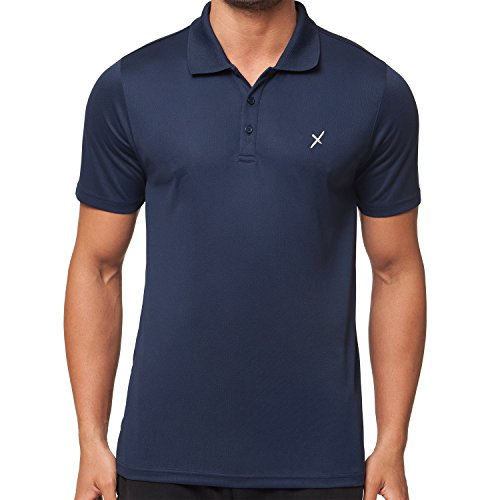 CFLEX Herren Sport Shirt Fitness Polo-Shirt Sportswear Collection - Navy S