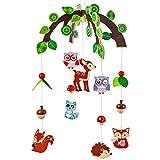 alles-meine.de GmbH Holzmobile _ Motivwahl _ Tiere im Wald & Eulen _ Unruhe aus Holz - Spielzeug Windspiel / Tiere Baby Mobile - Windspiel - Traumfänger - Babymobile - Spielzeugm..