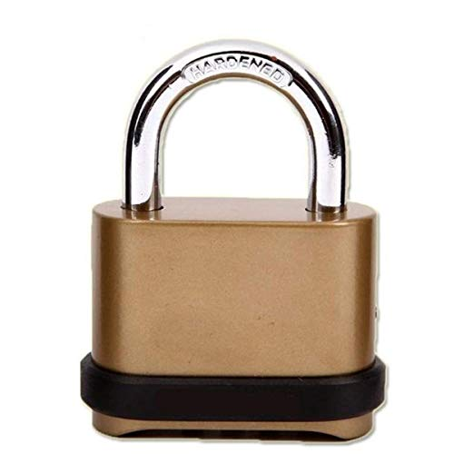 CLJ yshil Brass Combination Padlock Resettable Security Password Padlock with 4-Digit Smooth Dial for Indoor and Outdoor Gate Cabinets (Short)