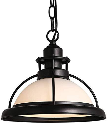 Office kroonluchter IJzer en glas plafond licht lampenkap Living Room Restaurant Bar Cafe plafondlamp Retro Onderzoek kamer kroonluchter (Color : White)