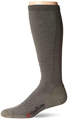 Fox River Herren Fatigue Fighter Over-The-The-Wadensocken, groß, 1 Pack Coyote Brown Socken mit verbessertem Luftstrom und ultimativem Komfort – Laubgrün – Groß