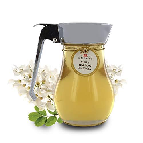 Brezzo Miel De Acacia En Tarro De Cristal con Dosificador - Origen Italia - 330 Gramos