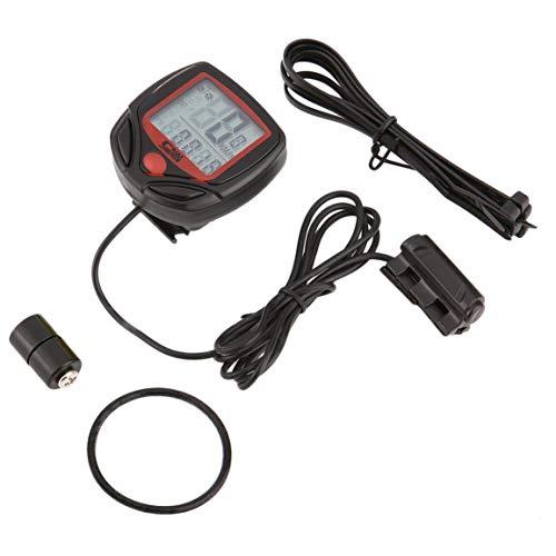 Garciadia SUNDING SD-546B Wired Multifunktions-Fahrradcomputer Mini-Kilometerzähler Stoppuhr Portable Digital LCD Waterproof Speedometer