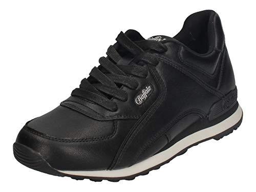 Buffalo Damen Sneaker Loke, Frauen Low Top Sneaker, schnürer schnürschuh sportschuh Lady Ladies feminin elegant Women,Schwarz(Black),39 EU / 6 UK