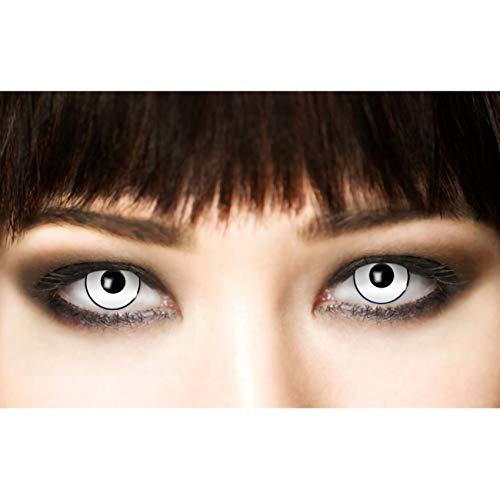 3-Monatslinsen WHITE MANSON, weiße Zombie Kontaktlinsen, Crazy Funlinsen, Halloween, Fastnacht, weiß - 2