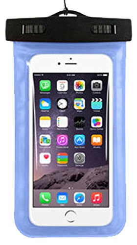 Imixcity® Sacs Etanches PVC Cellulaire Téléphone/ Pochette Étanche pour Téléphone Pour iPhone 6/6S/ 6 plus/6S plus,Samsung Galaxy S6 / S5 Note 3 , HTC , BlackBerry, LG, Waterproof écran tactile Smartphones 4-5.7 Pouces (Bleu)