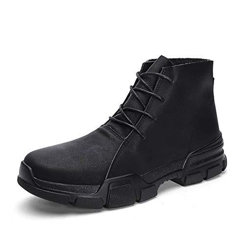 LBWNB Hombre Botas De Nieve Invierno Trekking Zapatos Calientes Sneakers Invierno Trekking Zapatos Calientes Sneakers Antideslizante Botines Al Aire Libre,Negro,39