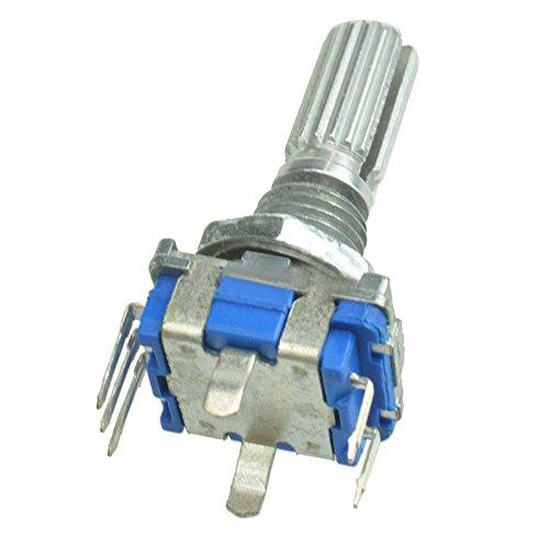 SODIAL 5PZ Encoder Rotativo Con Interruttore Ec11 Potenziometro Digitale Audio Manico Da 20Mm