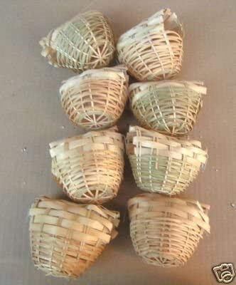 Mcage Finch Bird Bamboo Covered Nest 8 Lot - Sale special price Daily bargain sale Small of