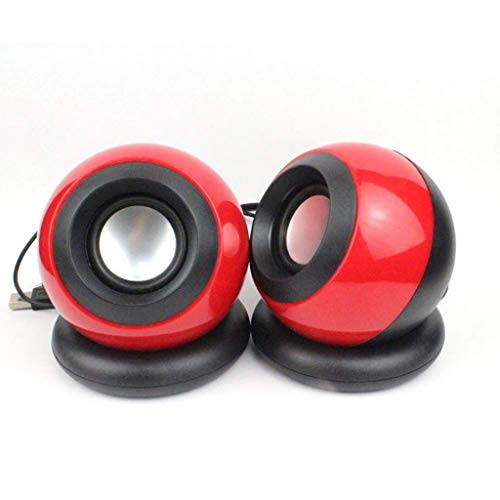 Purchase ZZNNN Computer Speaker, Small Mighty Solid Wired Multimedia Speaker for Desktop Laptop Gami...
