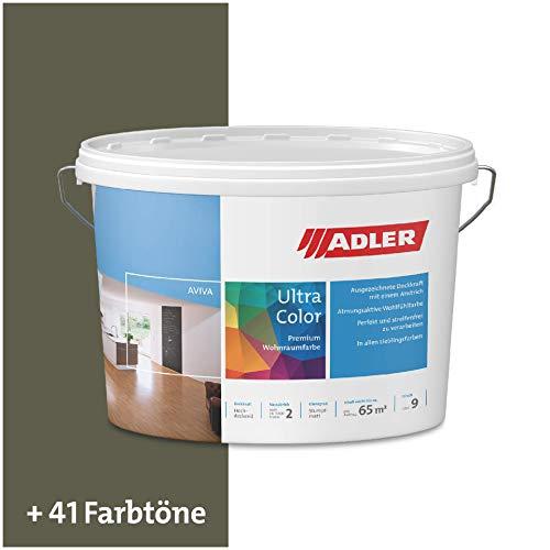 ADLER Ultra-Color Wandfarbe - Volltonfarbe und Abtönfarbe in 100+ Farbtönen - RAL6003 Olivgrün Grün 1 l Atmungsaktiv, Hochdeckend, Lösungsmittelfrei