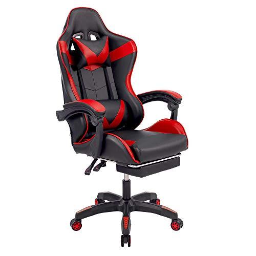 CO-Z Chaise de Gaming, Fauteuil de Gamer, Fauteuil de Bureau Racing, Chaise Ergonomique Inclinable avec Appui-Tête et Support...