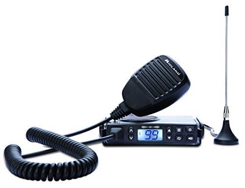 Midland GB1-R Funkempfänger mit 8 Kanälen + 91 Programmierbar mit CTCSS - 1 Empfänger, integrierte magnetische Antenne, Halterung, Mikrofon und Halterung