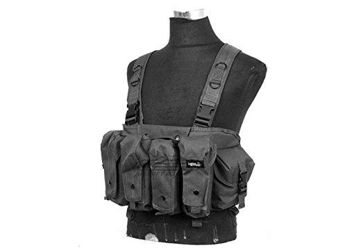 Lancer Tactical CA-308B AK Airsoft Chest Rig w/ Dual Mag Pouches (Black)
