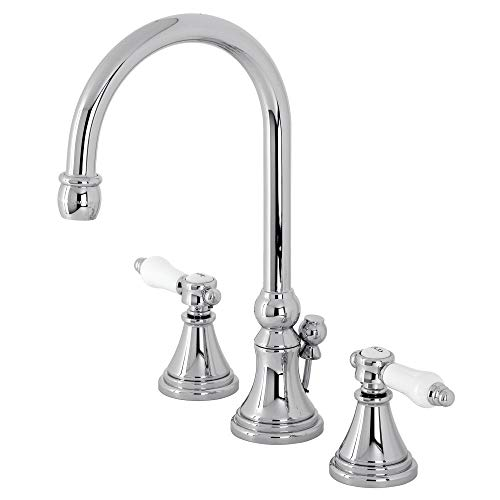 Kingston Brass KS2981BPL Bel-Air Widespread Bathroom Faucet with Brass Pop-Up, Polished Chrome