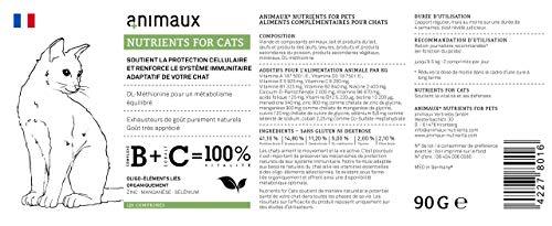Katzen-Vitamine zur Stärkung des Immunsystems | Unterstützt den Zellschutz auf natürliche Weise | animaux – nutrients for cats | Vom Tierarzt empfohlen | DL-Methionin für einen ausgewogenen Stoffwechsel | Unterstützt das Leistungspotential | rein natürliche Geschmacksträger | hohe Geschmacksakzeptanz | Zink, Mangan, Selen | für gesunde Haut und ein glattes, glänzendes Fell - 5