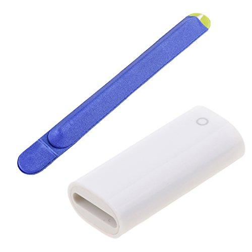 B Blesiya Adaptador de Carga F/F + Adhesivo Azul para Soporte en La Parte Posterior de La Tableta para Apple Pencil