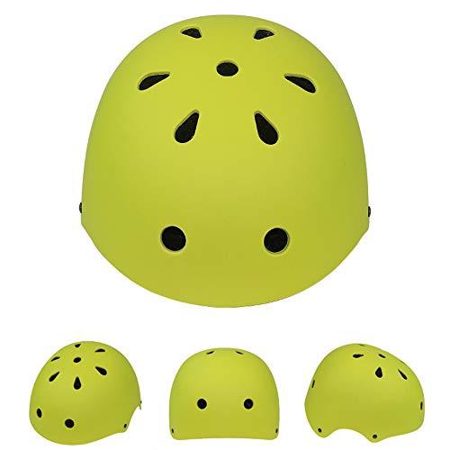 Fietshelmen Boys, Veiligheid Beschermende Helm Bicycle Inline Skate Scooter Helm Verstelbare Comfortabele Lichtgewicht Helm Voor Jongens En Meisjes,Yellow green,L(58~61CM)