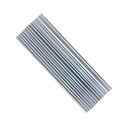Yardwe 50 unids Electrodos de soldadura de aluminio Flux Cored Alambre de soldadura de baja temperatura Aire acondicionado Reparación de aluminio Varillas de soldadura Plata 33 cm * 0,2 cm