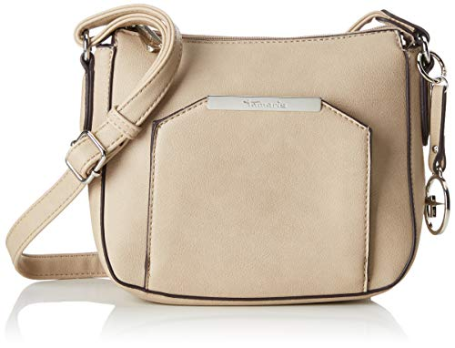 Tamaris Damen Mirela Crossbody Bag Umhängetasche, Beige (Pepper), 7x18.5x21.5 cm