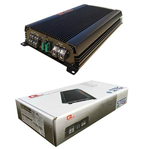 1 STEG QM75.4 QM 75.4 amplificatore 4 canali da competizione 300 watt rms 4 x 75 watt rms 600 watt max con bass boost 0   +12 db auto spl, 1 pezzo