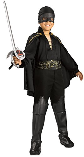 Rubie's Costume Zorro per Bambini, Multicolore, S, IT882310-S