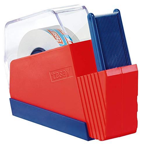 tesafilm huishouddispenser, rood/blauw, incl. 1 rol tesafilm kritall-helder