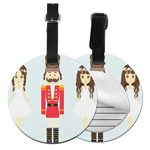 Luggage Tags Girl Ballerina Braid Suitcase Luggage Tags Business Card Holder Travel Id Bag Tag