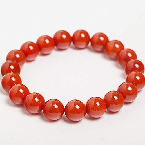 Jade armband voor dames, Boeddha armband, 10mm rode Agaat kralen armband met aantrekkingskracht rijkdom en veel geluk, mannen en vrouwen, gebruiken als een geschenk.