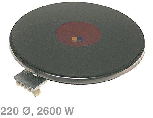 Kochplatte 220mmØ 2600W 8mm Rand Massekochplatte Herd EGO 1222463018