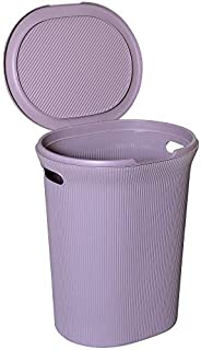 Spread Spain Laundry Basket with Lid/Bathroom Basket for Clothes/Multipurpose Big Size Basket for Home |40 Lt (LH-5001-LILAC)