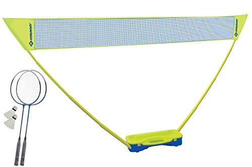 Schildkröt Badminton-Set Compact, inklusive Netz, 2 Schläger und 2 Bälle, im praktischen Kunststoffkoffer, 970992