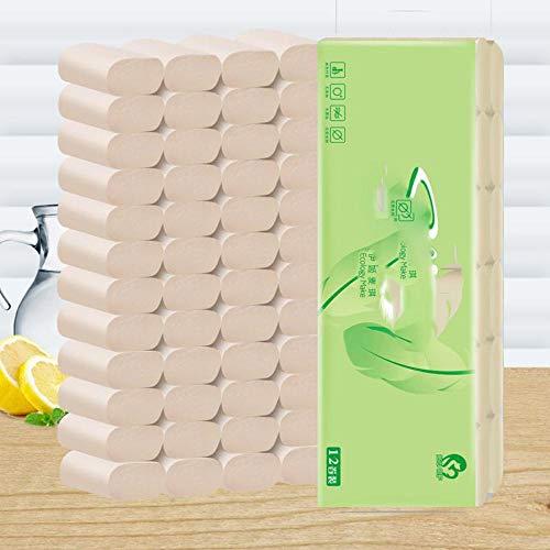 Toiletpapier Huishoudpapier Handdoek Bamboe Pulp Natuurlijk 12st Coreless Rolpapier Toiletpapier, Verenigde Staten