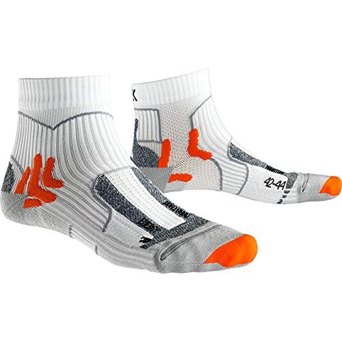 X-Socks Marathon Energy Socks, Calzini da Corsa Unisex-Adulto, Arctic White/Pearl Grey, 42-44