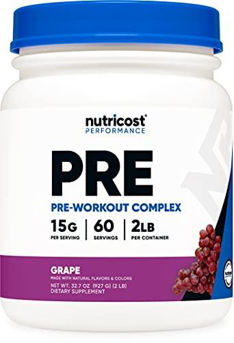 Nutricost Pre-Workout Complex Powder Grape (60 Serv)