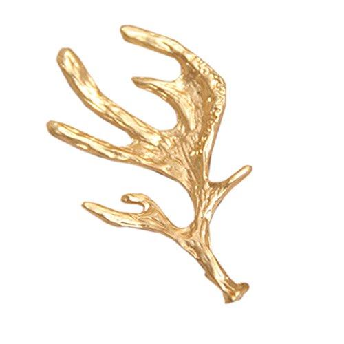 Lot de 2 [Elk Antlers] Pinces à cheveux Chic Épingles à cheveux doré,2,1*1,1''