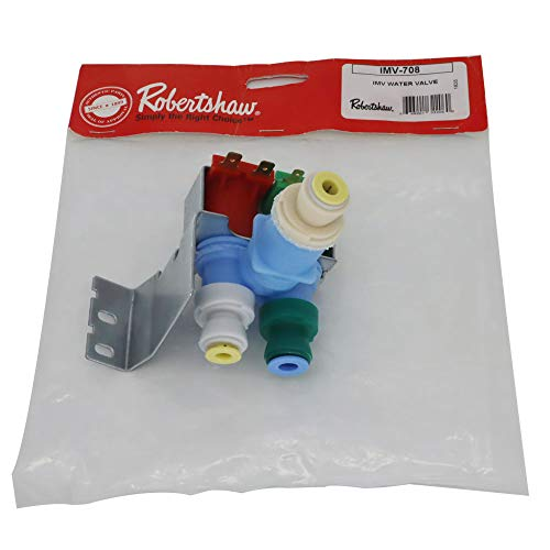 What's Up? IMV708 W10408179 4389177 Original Version for Whirlpool Kenmore Refrigerator Water Valve by Robertshaw Replace AP5263471 W10408179VP PS3497634 AP5263471 1938614