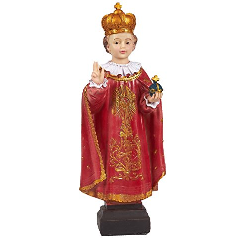 Juvale - Figura decorativa de resina del niño Jesús, decoración religiosa católica para altares, decoración del hogar y devoción cristiana, 10,7 x 29,8 x 5 cm