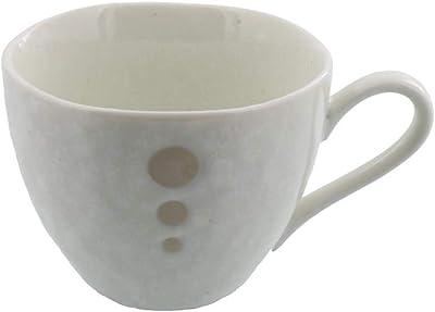 (アウトレット込み)水玉 コーヒーカップ 白 (ドットモノトーンシリーズ)