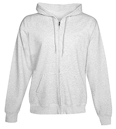 Hanes Mens 7,8oz. ComfortBlend EcoSmart 50/50Full-Zip Hood (P180), color negro