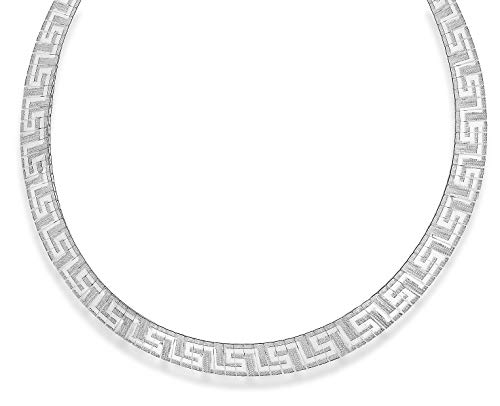 Tuscany Silver Sterling Silver Grecian Style Cleopatra Necklace of 43cm/17'