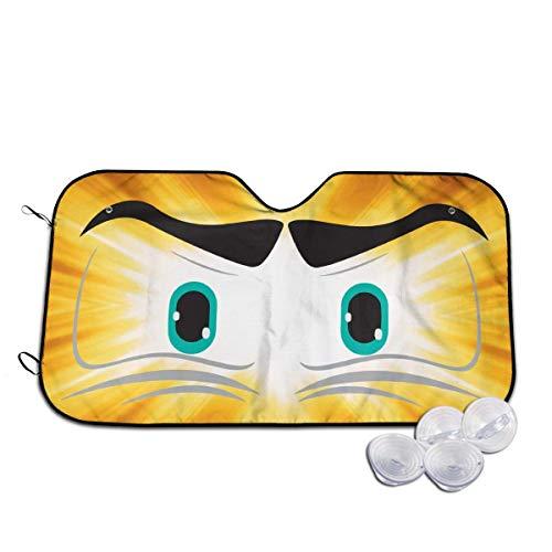 Windshield Sun Shade Angry Cartoon Eyes Funny Visor Car Sunshade Universal 51.2x27.5 Inch,55x30 Inch for Cars SUV Truck,Block The Sun,Protects Interior Cool