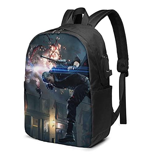De-vil May Cry - Mochila para portátil de 17 pulgadas con mochila informal para adolescentes y estudiantes de viaje