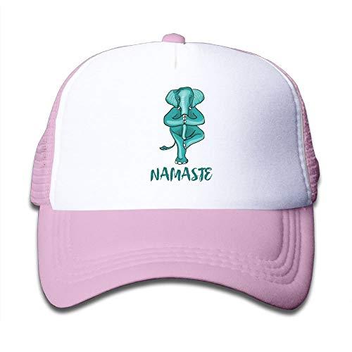 Surce honkbalpet voor jongens en meisjes, olifant, yoga, weegschaal, humor, gym, karma LOL