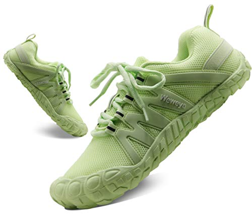 Women's Minimalist Shoes Barefoot Gym Workout Shoes Jogging Fitness Comfortable Trail Running Shoes Runners Work Out HIIT Green US Size 8