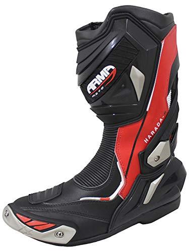 ARMR Moto Harada R Sport Botas de moto Racing PU cuero bota rojo talla 44