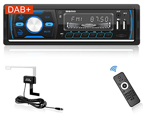 Autoradio mit DAB+ Bluetooth Freisprecheinrichtung DAB/RDS/MP3/FM/AM/SD/AUX/2 USB Funktion mit Fernbedienung