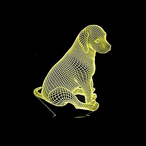3D Nachtlicht Nachtlicht 7 Farben Roman Hund führte USB Touch Switch Tisch Schreibtisch Hund Rettungsteam Geschenk