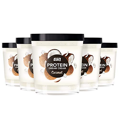 ESN Protein Dream Cream Tray – 6x 200g - Coconut – Proteinreiche Kokos-Creme – 85% weniger Zucker – High Protein – Lower Carb – Made in Germany
