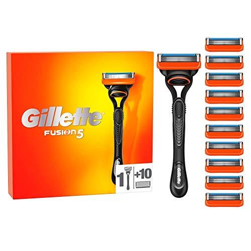 Gillette Fusion 5 Rasierer Herren mit 11 Rasierklingen mit Anti-Irritations-Klingen für bis zu 20 Rasuren pro Rasierklinge, aktuelle Version